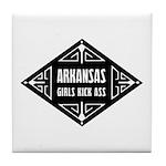 Arkansas Girls Kick Ass Tile Coaster