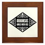 Arkansas Girls Kick Ass Framed Tile