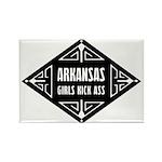 Arkansas Girls Kick Ass Rectangle Magnet