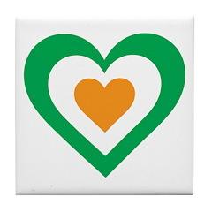 Irish Heart Tile Coaster