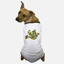 Green Floral Dove Dog T-Shirt