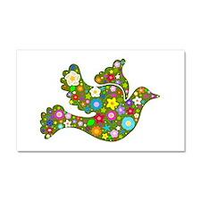 Green Floral Dove Car Magnet 20 x 12