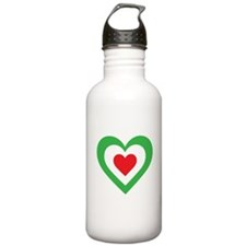 Italian Heart Water Bottle