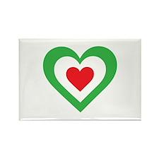 Italian Heart Rectangle Magnet