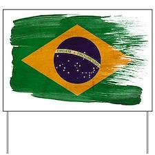 Brazil Flag Yard Sign