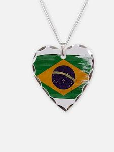 Brazil Flag Necklace