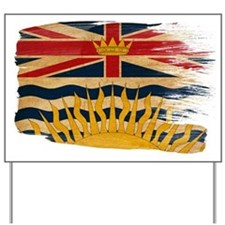 British Columbia Flag Yard Sign