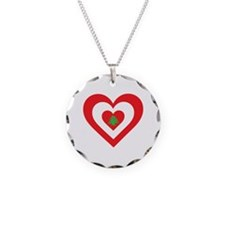 Lebanon Heart Necklace Circle Charm