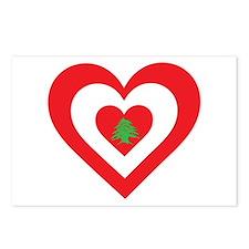 Lebanon Heart Postcards (Package of 8)
