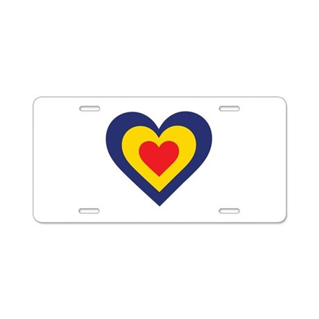 Romania Heart Aluminum License Plate