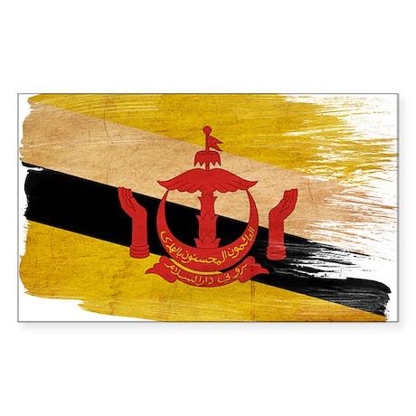 Brunei Flag Sticker (Rectangle)