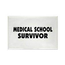 Medical School Survivor Rectangle Magnet