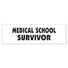 Medical School Survivor Car Sticker