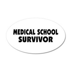 Medical School Survivor 38.5 x 24.5 Oval Wall Peel