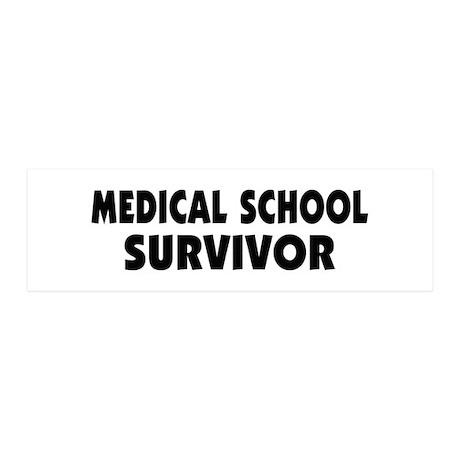 Medical School Survivor 21x7 Wall Peel