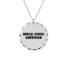 Medical School Survivor Necklace Circle Charm