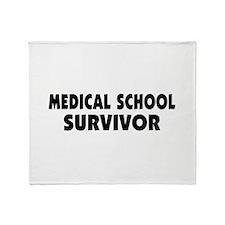Medical School Survivor Throw Blanket