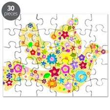 Yellow Floral Dove Puzzle