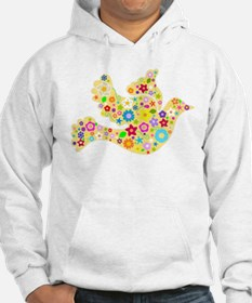 Yellow Floral Dove Hoodie