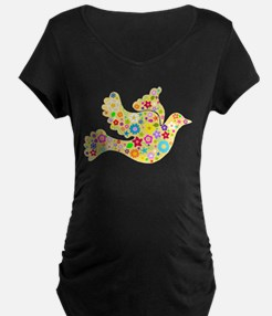 Yellow Floral Dove T-Shirt