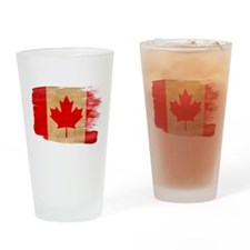 Canada Flag Drinking Glass