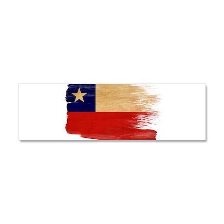 Chile Flag Car Magnet 10 x 3