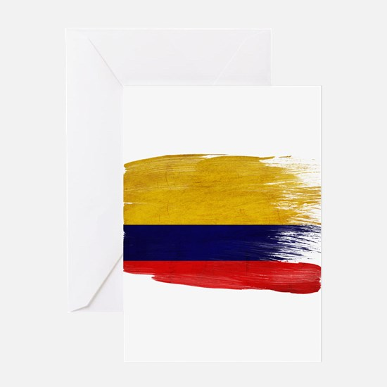 Colombia Flag Greeting Card