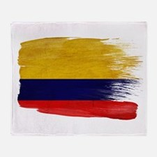 Colombia Flag Throw Blanket