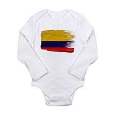 Colombia Flag Long Sleeve Infant Bodysuit