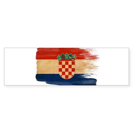 Croatia Flag Sticker (Bumper)