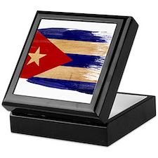 Cuba Flag Keepsake Box