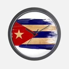 Cuba Flag Wall Clock