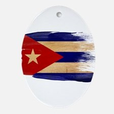 Cuba Flag Ornament (Oval)