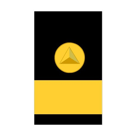 NOAA Rear Admiral<BR> Vertical Sticker