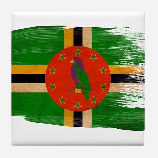 Dominica Flag Tile Coaster