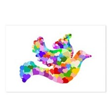 Rainbow Dove of Hearts Postcards (Package of 8)
