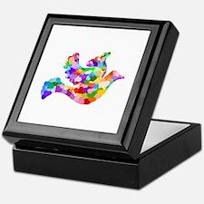 Rainbow Dove of Hearts Keepsake Box