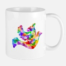 Rainbow Dove of Hearts Mug