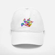 Rainbow Dove of Hearts Baseball Baseball Cap