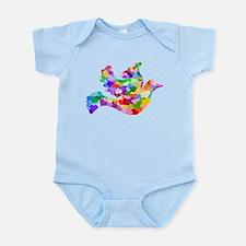Rainbow Dove of Hearts Infant Bodysuit