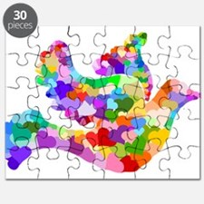 Rainbow Dove of Hearts Puzzle