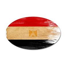 Egypt Flag 22x14 Oval Wall Peel