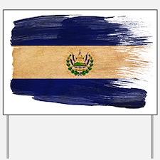 El Salvador Flag Yard Sign