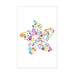 White Star Flower Posters