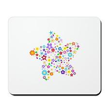 White Star Flower Mousepad
