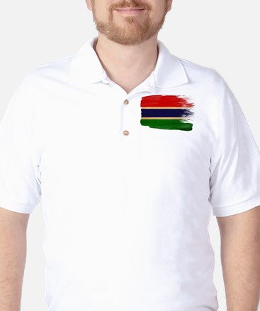 Gambia Flag Golf Shirt