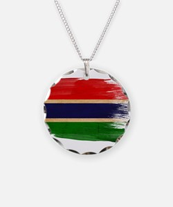 Gambia Flag Necklace