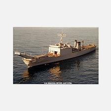 USS BRISTOL COUNTY Rectangle Magnet