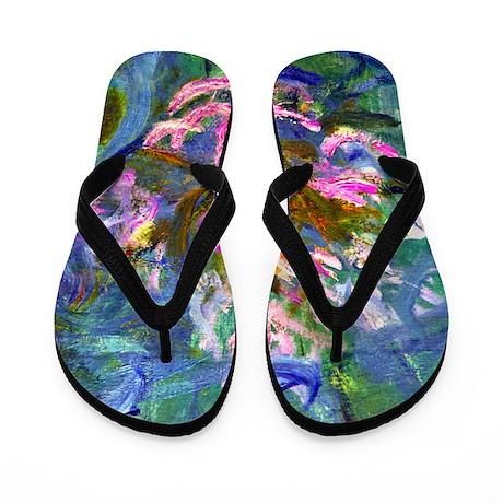Monet - Agapanthus Detail Flip Flops