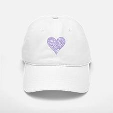 Lilac Decorative Heart Baseball Baseball Cap
